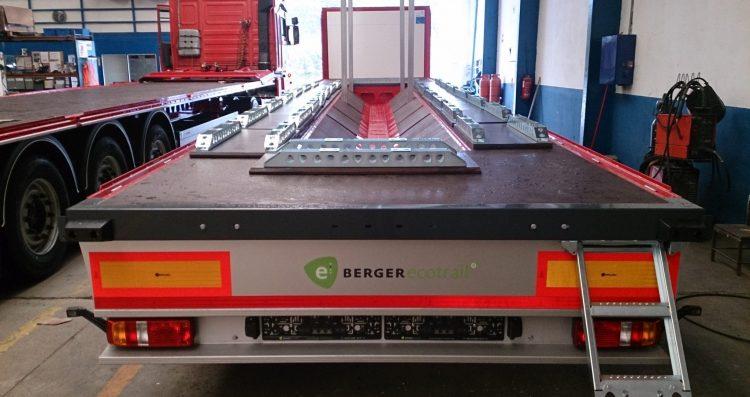 1 Semiremorca platforma BERGERecotrail cu coil ( LTCnP)